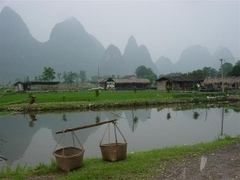 de Li rivier in Yangshuo, China